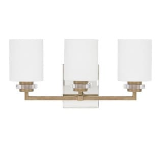 Austin Allen & Company Transitional 3-light Brushed Gold Bath/Vanity Light