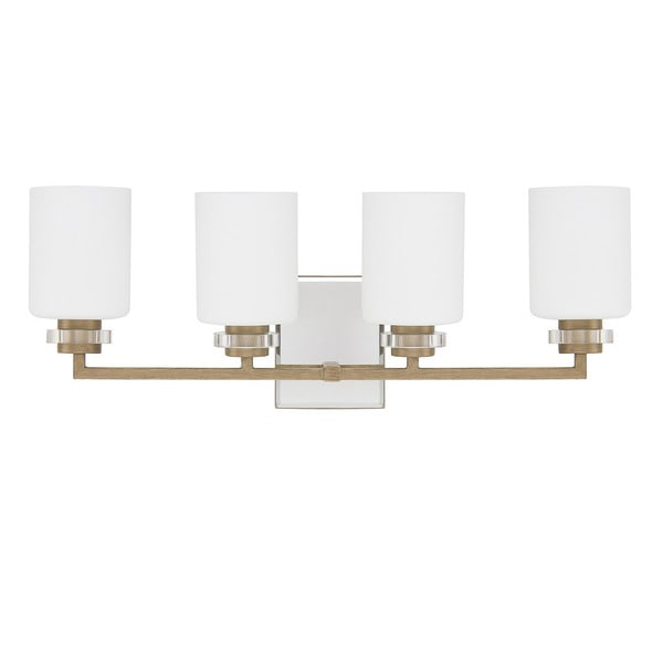 Bathroom Vanity Lights Gold : Austin Allen & Company Transitional 4-light Brushed Gold Bath/Vanity Light - Free Shipping Today ...