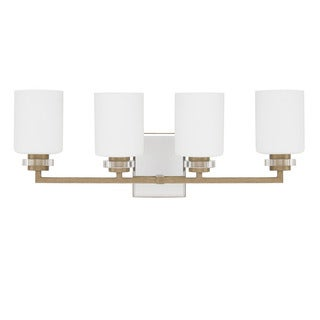 Austin Allen & Company Transitional 4-light Brushed Gold Bath/Vanity Light
