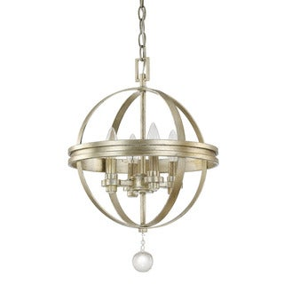 Austin Allen & Company Monroe Collection 4-light Iced Gold Dual Mount Pendant