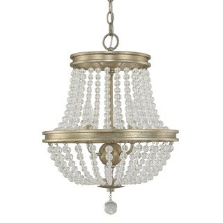 Austin Allen & Company Handley Collection 3-light Iced Gold Chandelier