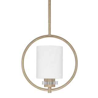 Austin Allen & Company Transitional 1-light Brushed Gold Mini Pendant
