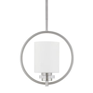 Austin Allen & Company Transitional 1-light Brushed Nickel Mini Pendant