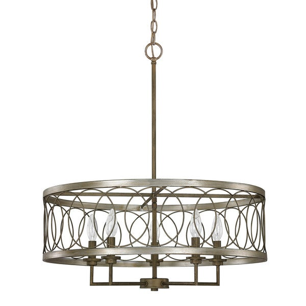 Austin Allen Company Madeline Collection 5 Light Brushed Silver And Bronze Pendant