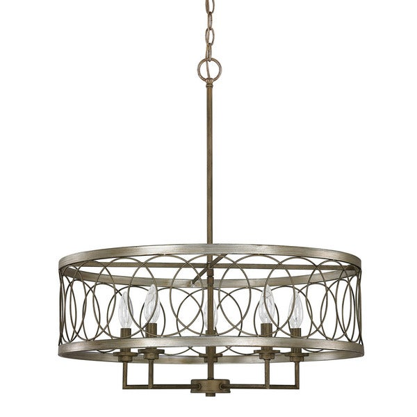 Austin Allen Company Madeline Collection 5 Light Brushed Bronze Pendant Free Shipping Today