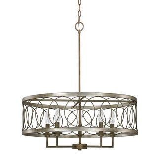 Austin Allen & Company Madeline Collection 5-light Brushed Silver and Bronze Pendant