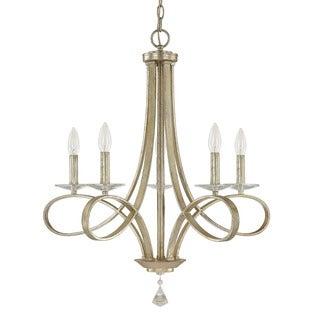 Austin Allen & Company Modern 5-light Iced Gold Chandelier