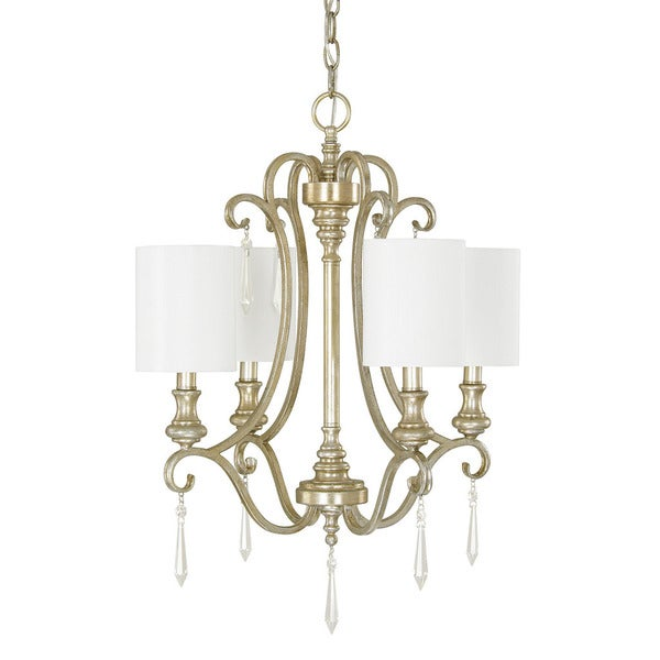Austin Allen Company Ansley Park Collection 4 Light Iced Gold Chandelier
