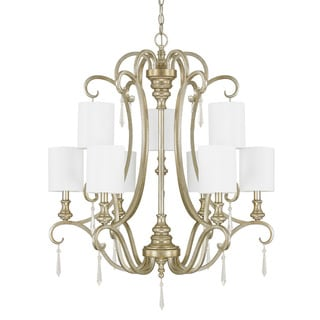 Austin Allen & Company Ansley Park Collection 9-light Iced Gold Chandelier