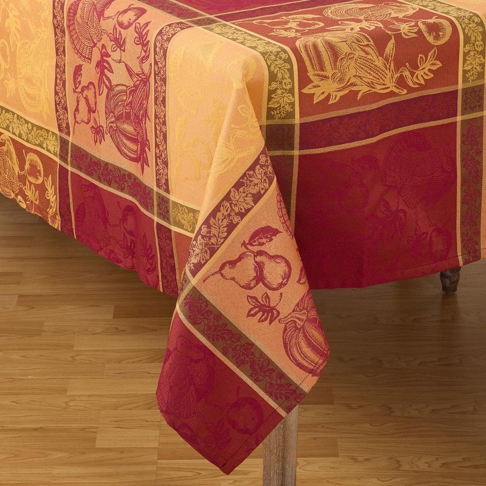 Shop Thanksgiving Collection Jacquard Plaid Tablecloth - 10736161