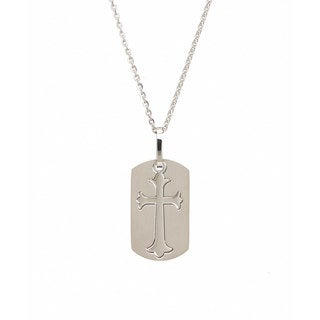James Cavolini Stainless Steel Cutout Cross Pendant Necklace|https://ak1.ostkcdn.com/images/products/10736233/P17792580.jpg?_ostk_perf_=percv&impolicy=medium
