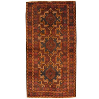 Herat Oriental Afghan Hand-knotted Tribal Balouchi Wool Rug (3'5 x 6'7)