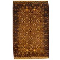 Herat Oriental Afghan Hand-knotted Tribal Balouchi Wool Rug (4'1 x 6'7)