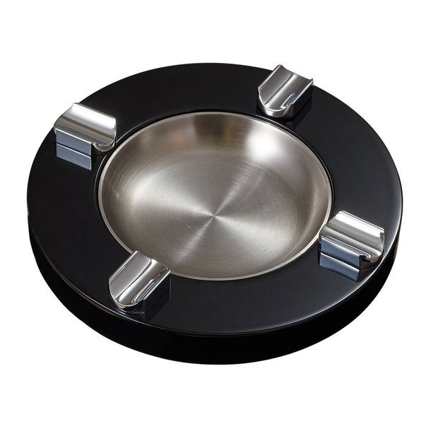 Visol Noche Black Lacquer Wooden Cigar Ashtray