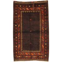 Handmade Herat Oriental Afghan Tribal Balouchi Wool Rug (Afghanistan) - 3'8 x 5'10