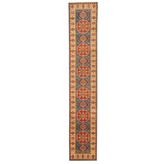 Herat Oriental Afghan Hand-knotted Kazak Wool Runner (2' x 11'3)