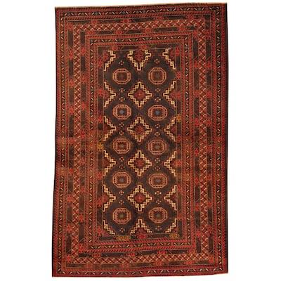 Handmade One-of-a-Kind Balouchi Wool Rug (Afghanistan) - 4' x 6'2