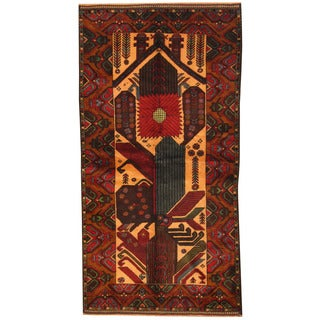 Herat Oriental Afghan Hand-knotted Tribal Balouchi Wool Rug (3'5 x 6'8)