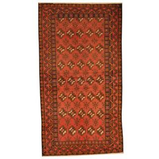 Herat Oriental Afghan Hand-knotted Tribal Balouchi Wool Rug (3'5 x 6'3)