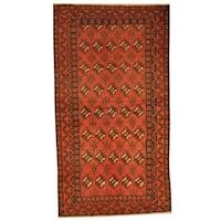 Handmade Herat Oriental Afghan Tribal Balouchi Wool Rug  - 3'5 x 6'3 (Afghanistan)
