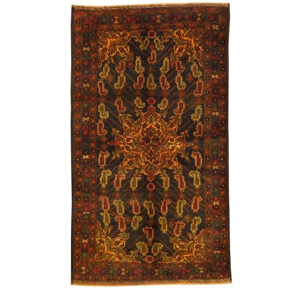 Herat Oriental Afghan Hand-knotted Tribal Balouchi Wool Rug (3'5 x 6'1) - 3'5 x 6'1