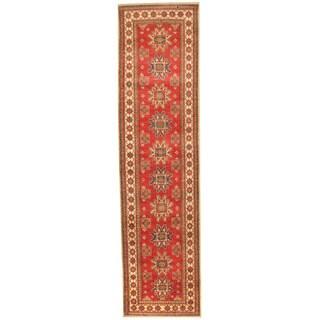 Herat Oriental Afghan Hand-knotted Kazak Wool Runner (2'9 x 11')