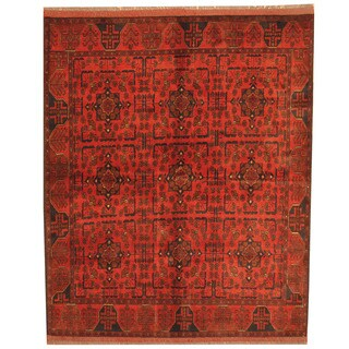 Herat Oriental Afghan Hand-knotted Tribal Khal Mohammadi Wool Rug (5' x 6'7)