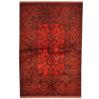 Herat Oriental Afghan Hand-knotted Tribal Khal Mohammadi Wool Rug (3'4 x 5'2)