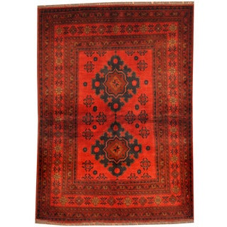 Herat Oriental Afghan Hand-knotted Tribal Khal Mohammadi Wool Rug (3'4 x 4'8)