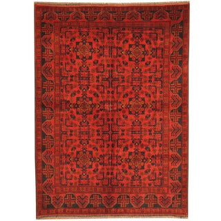 Herat Oriental Afghan Hand-knotted Tribal Khal Mohammadi Wool Rug (5' x 6'10)