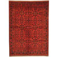Herat Oriental Afghan Hand-knotted Tribal Khal Mohammadi Wool Rug (5' x 6'10) - 5' x 6'10