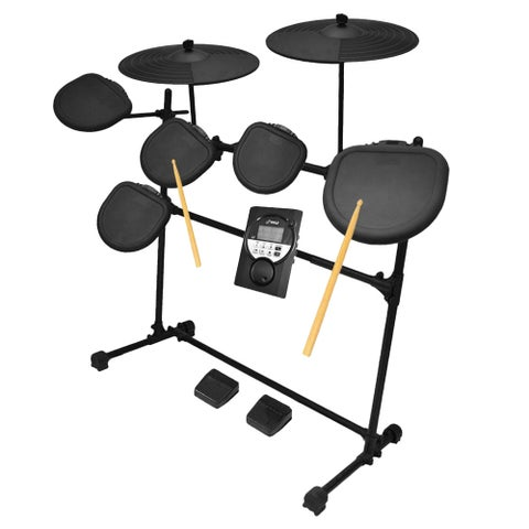 Pyle PED021M Digital Drum Set/ Electronic Drum Machine System (7-Piece Drum Kit)