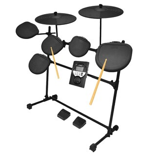 Pyle PED021M Digital Drum Set/ Electronic Drum Machine System (7-Piece Drum Kit)