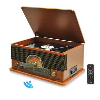 Pyle PTCD56UB-V Vintage Retro Classic Style Bluetooth Turntable System with Vinyl/ MP3 Recording Ability (2 Color Options)