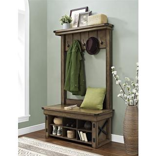 Ameriwood Home Altra Wildwood Entryway Hall Tree with Bench Storage
