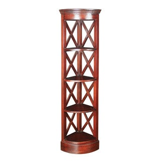 Galloway Mahogany Corner Shelves