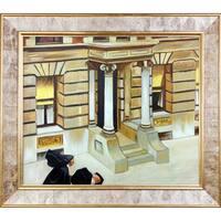 Edward Hopper 'New York Pavements' 1924 Hand Painted Framed Canvas Art