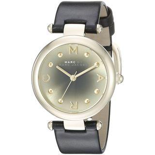 Marc Jacobs Women's MJ1409 'Dotty' Black Leather Watch