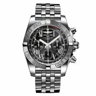 Link to Breitling Men's AB011011-B956 'Chronomat 44' Chronograph Automatic Stainless Steel Watch Similar Items in Men's Watches