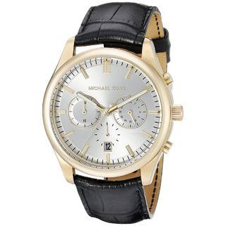 Michael Kors Men's MK8458 'Pennant' Chronograph Black Leather Watch
