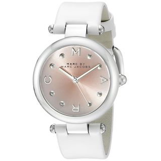Marc Jacobs Women's MJ1407 'Dotty' White Leather Watch