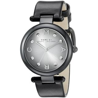 Marc Jacobs Women's MJ1410 'Dotty' Black Leather Watch