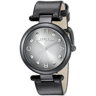 Marc Jacobs Women's MJ1410 'Dotty' Black Leather Watch