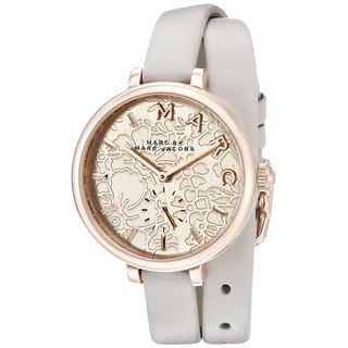Marc Jacobs Women's MJ1418 'Sally' White Leather Watch