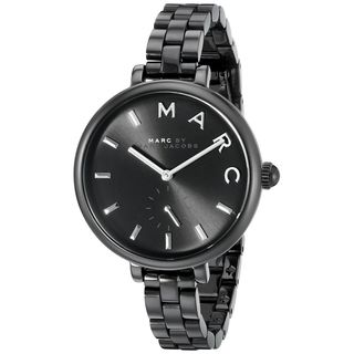 Marc Jacobs Women's MJ3455 'Sally' Black Stainless Steel Watch