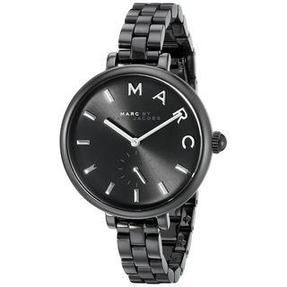 Marc Jacobs Women's MJ3455 'Sally' Black Stainless Steel Watch