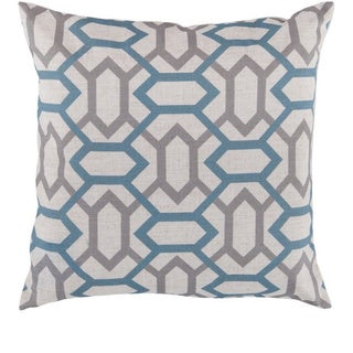 Decorative St.Mawes 22-inch Trellis Pillow Cover