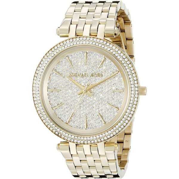 Michael Kors Women's MK3438 'Darci' Crystal Gold-Tone Stainless Steel Watch