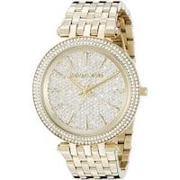 Michael Kors Women's  'Darci' Crystal Gold-Tone Stainless Steel Watch