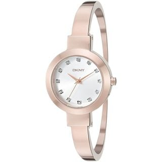 DKNY Women's NY2411 'Stanhope' Crystal Rose-Tone Stainless Steel Watch